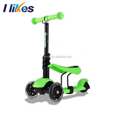 Market wholesale child toy kids foot kick 3 function kids scooters