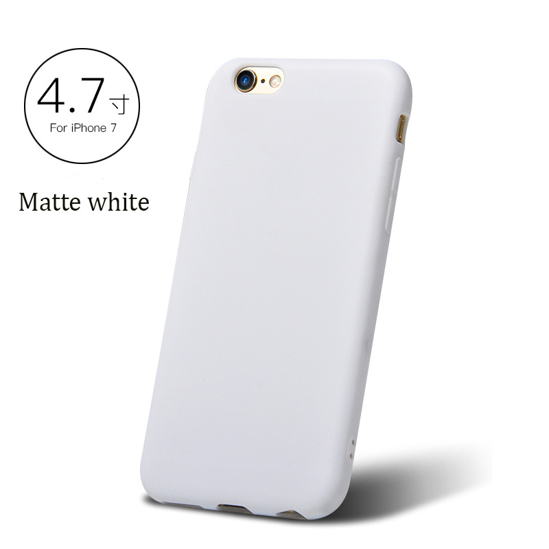 DFIFAN Lastest products 2017 ,1.3 mm thick frosted TPU case for iphone 6 7 case, white case for iphone 7