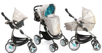 EN 1888 folding and light weight baby stroller 3 in 1 pram car seat