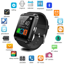 2016 black factory price smart watch u8 with selfie,phone call and suit for android 4.3