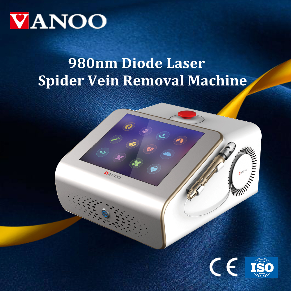 980nm diode laser vascular lesion therapy spider vein removal diode laser beauty machine
