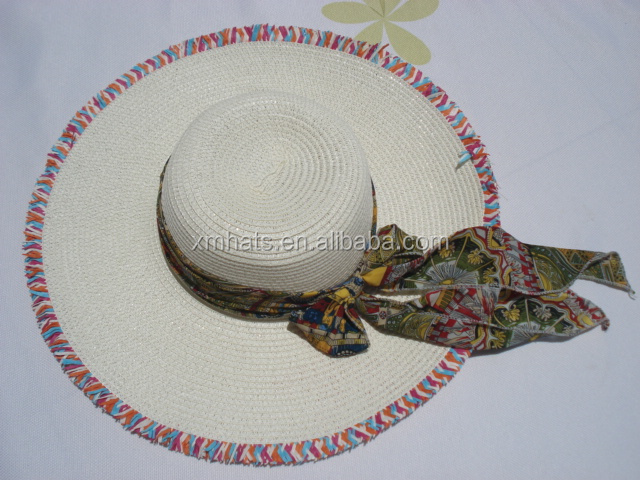 2015 most popular creative latest paper braid big brim lady visor hat