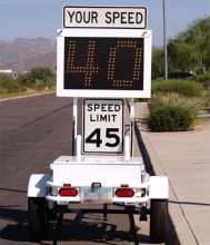 Portable Police Radar High Speed Limit Traffic Signs Control Trailers