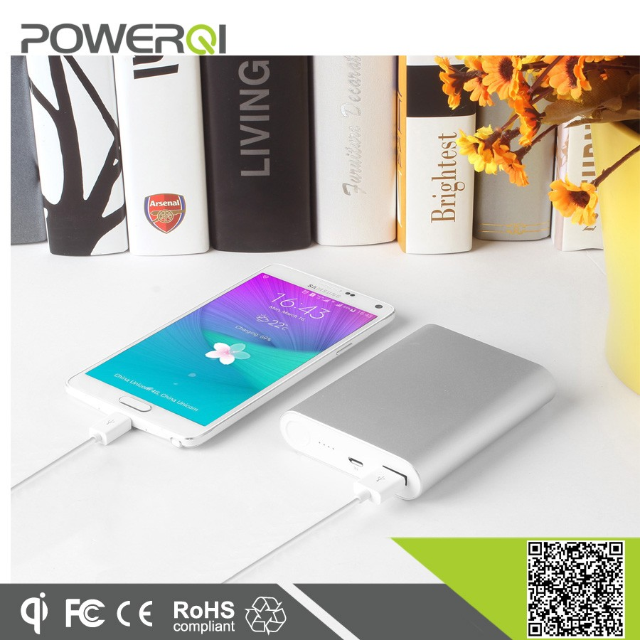 QC 2.0 power bank fast charger 10000 mah battery for smartphone charge