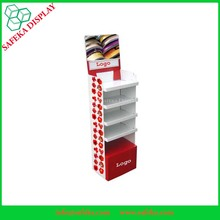 Festival Decoration Retail Cardboard Floor Ribbon Display Stand for Gift