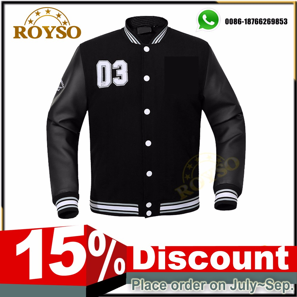 Custom Made Mens Kids Black Fleece Bomber Varsity Padded Jacket Custom Men Winter Black Bomber Coats Clothes Wholesale