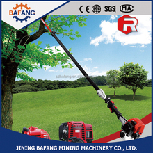 Gasoline powered long pole handle chain saw for branch wood cutting machine