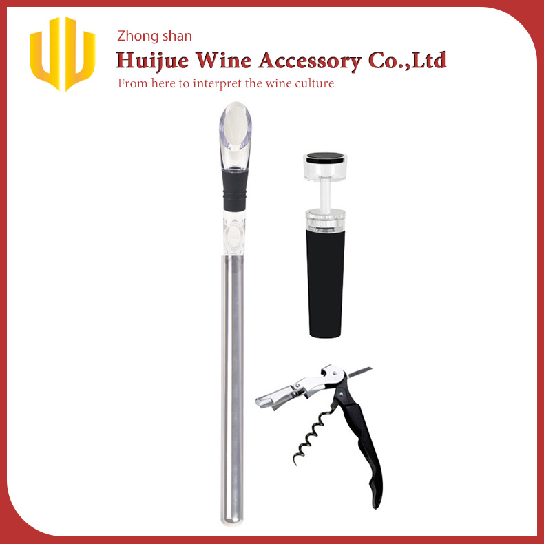 Chinese Supplier OEM Stainless Steel Chilling Stick Cooler with Stopper/Corkscrew
