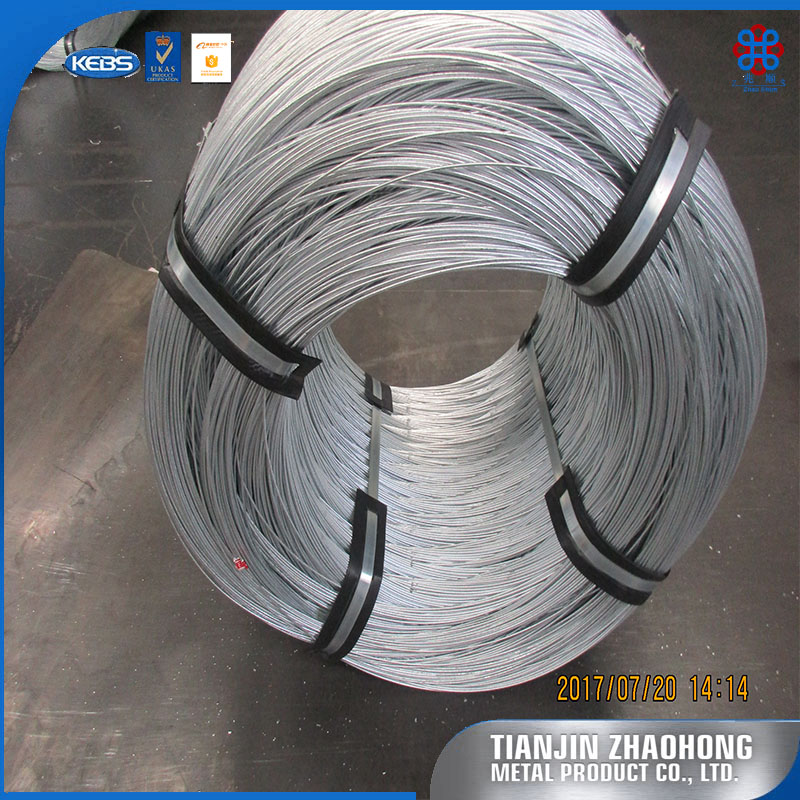heat treatment soft twist galvanized iron wire finished product