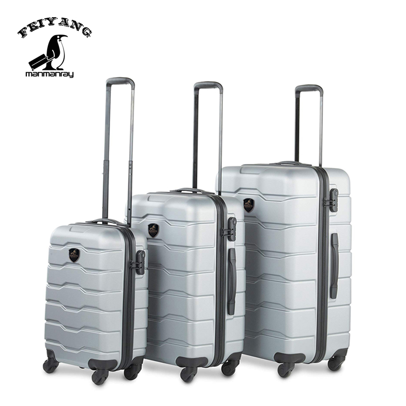 Popular <strong>abs</strong> 3 piece sets <strong>abs</strong> pc hard shell case travel trolley luggage