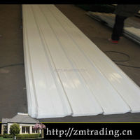 white curving corrugated steel roof sheet