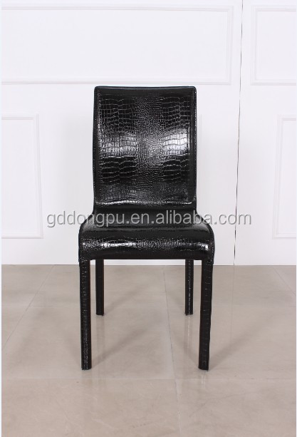 Classic Style Simple Pattern PU Leather Dining Chair Stainless Steel--Y28