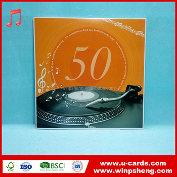 Wholesale 20 seconds happy birthday singing birthday greeting card