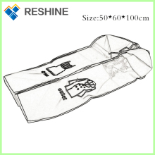promotion and eco-friendly custom design silk print heat transfer non-woven stock cloth storage cover dust prevent non woven bag