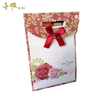 Factory Wholesale Custom Acceptable Handmade Beautiful Gift Paper Bag With Ribbon Tie For Wedding