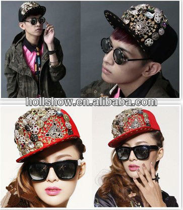 2013 New Leopard Head Jewerly Lady Baseball Hat