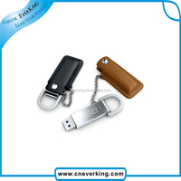 new sale leather design usb with keyring for business man