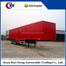 3 axle 45T curtain side aluminum cargo box semi trailer with air suspension for sale