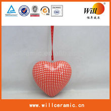 2014 Newest Ceramic Christmas Ornament of Heart Shape