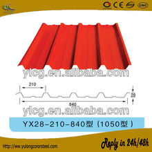 ribbed perforated corrugated metal roof sheet