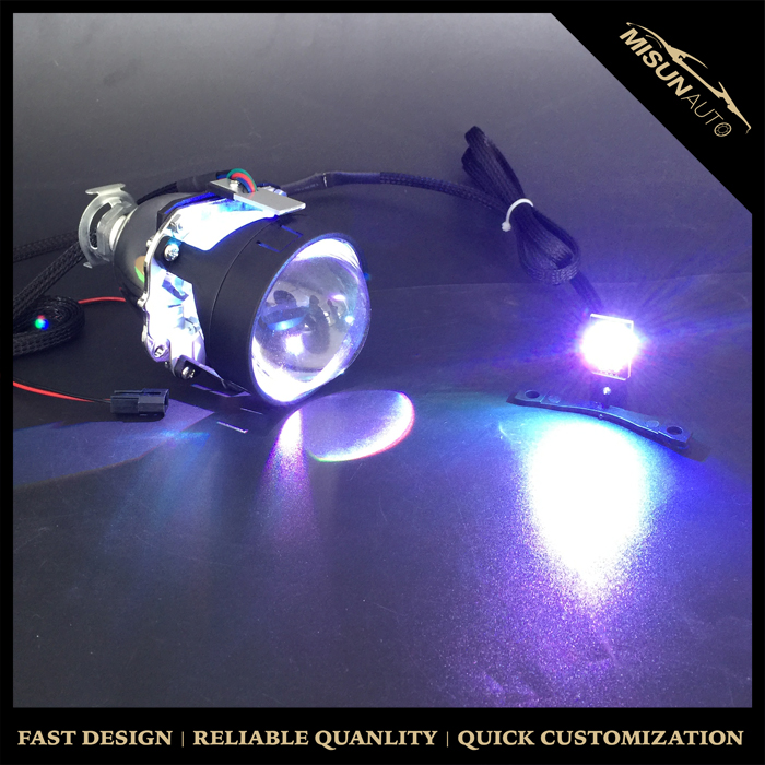 Free shipping forJac refine commercial car xenon lamp bifocal lenscar angel eyes headlight evil eye