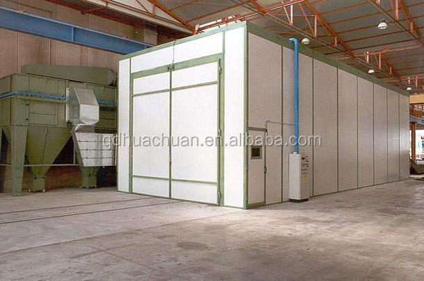 Indoor Air sand blasting cabin/shot blasting room for auto spare parts