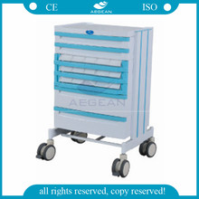 AG-WNT001 CE ISO ABS material medical trolley cart for nurse