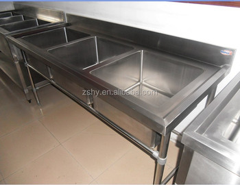 stainless steel table with sink (S/S304)