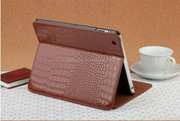 Latest Crocodile Grain design for Ipad 5 pu flip cover case