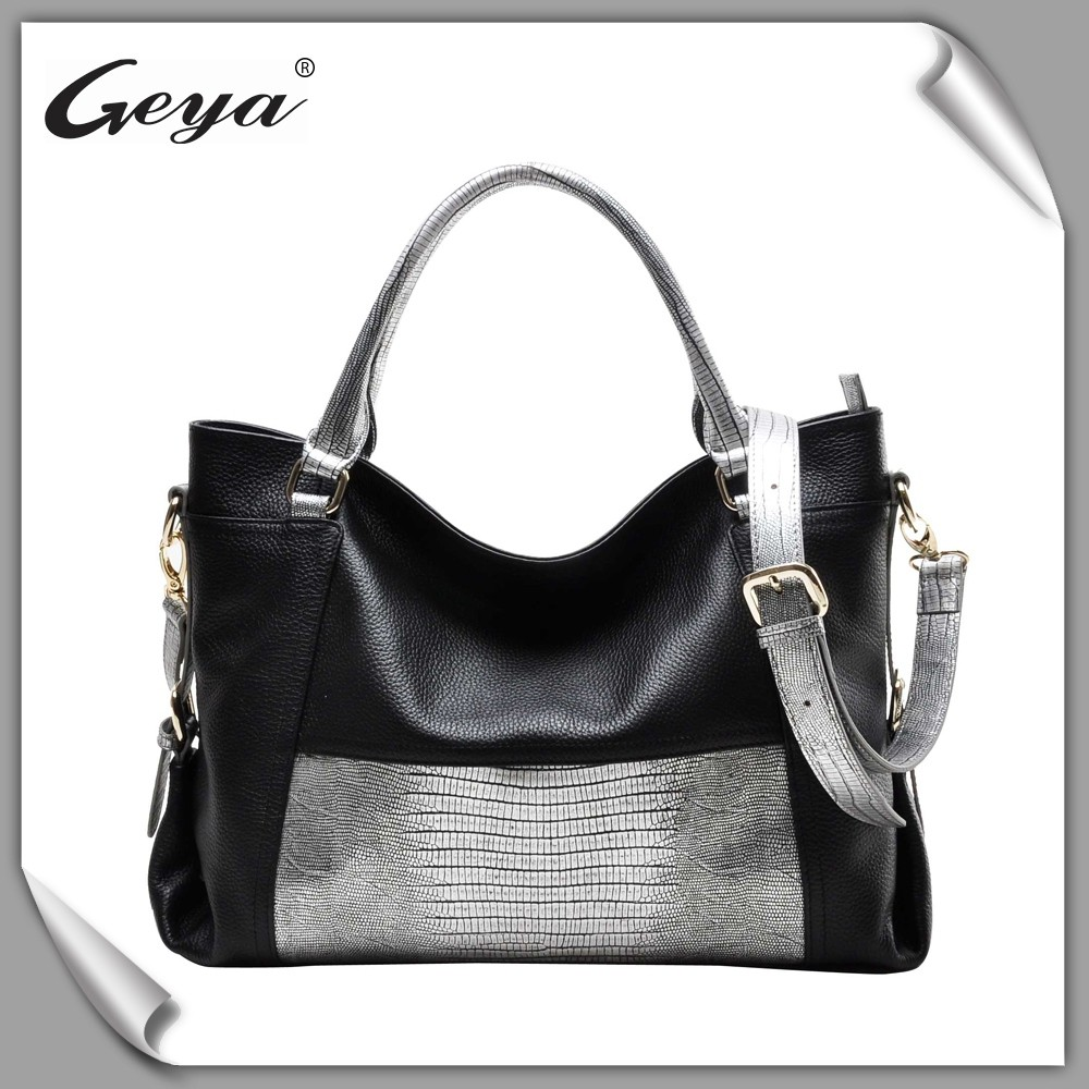 China wholesale ladies leather handbags with reasonable cost