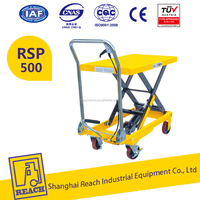 500kg REACH Heavy Duty Easy Action Hydraulic Scissor Manual Lift Table for EU and U.S. Type