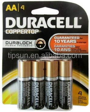 Blister Card Pack of 4pcs 1.5V LR6 MN1500 AA Duracel Duralock alkaline battery for remote control