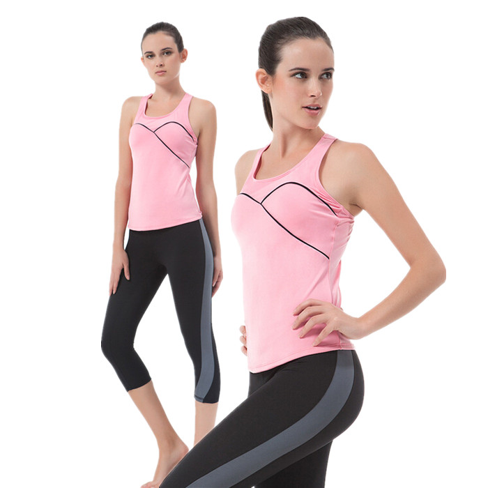 d0c8e24d65b Get Quotations · Pink Yoga Clothes Exercise Yoga Clothing For Sports Womens Workout  Wear Gym Clothes Women Fitness Set