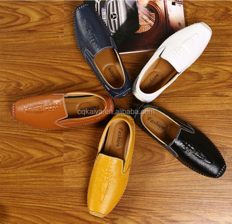 UK FASHION MAN'S LEATHER FLAT SOLE SHOES