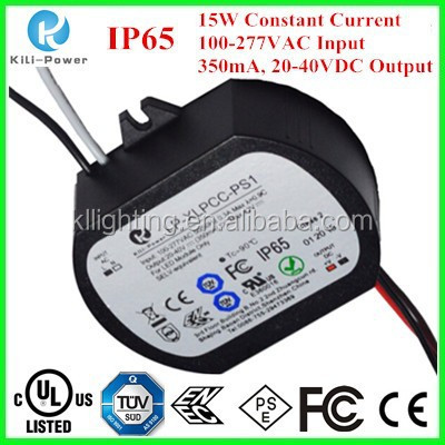 15w 350mA Constant Current Waterproof IP65 led drivers