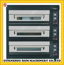 2012 Stainless Steel,Steam,CE,Electric Deck Oven (3 layers 12 trays) (Hot)