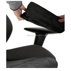 Optima memory foam Universal office Chair Armrest pads for office, home and wheel chair armrest, black