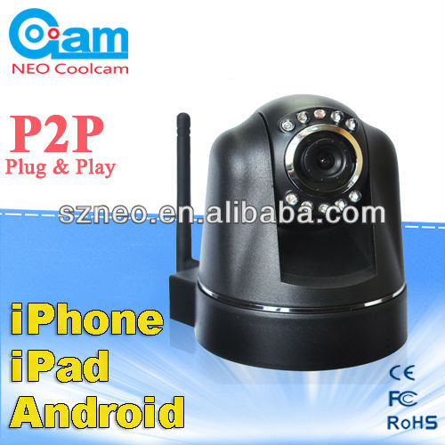 P2P Wireless WiFi IP Camera PT Record Audio Smartphone Android iPhone View