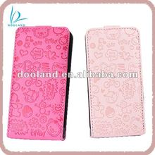 Cute design pu leather for iphone cover