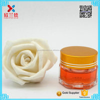 mini cosmetic packing clear hexagon shape glass jar facial cream glass jar 20g