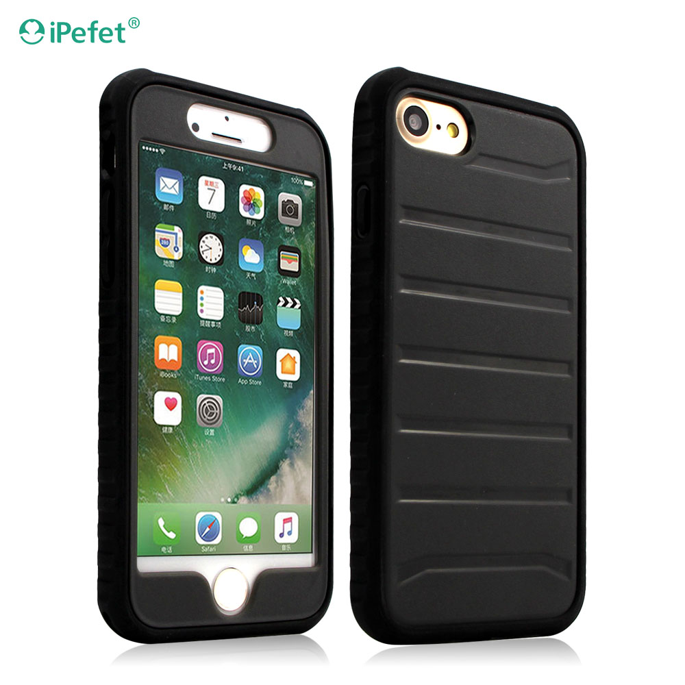 [Heavy Duty] PC+TPU Hybrid Dual Layer Armor Defender Full Body Protective Cover for iPhone 7