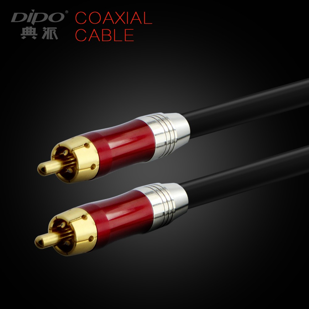 digital audio rca coaxial cable with Gold-plated plug