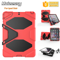 Hotsale factory price tough silicone+pc rugged case for ipad air/ipad 5 kid proof shockproof case