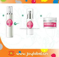 Custom color printing cosmetic jar labels