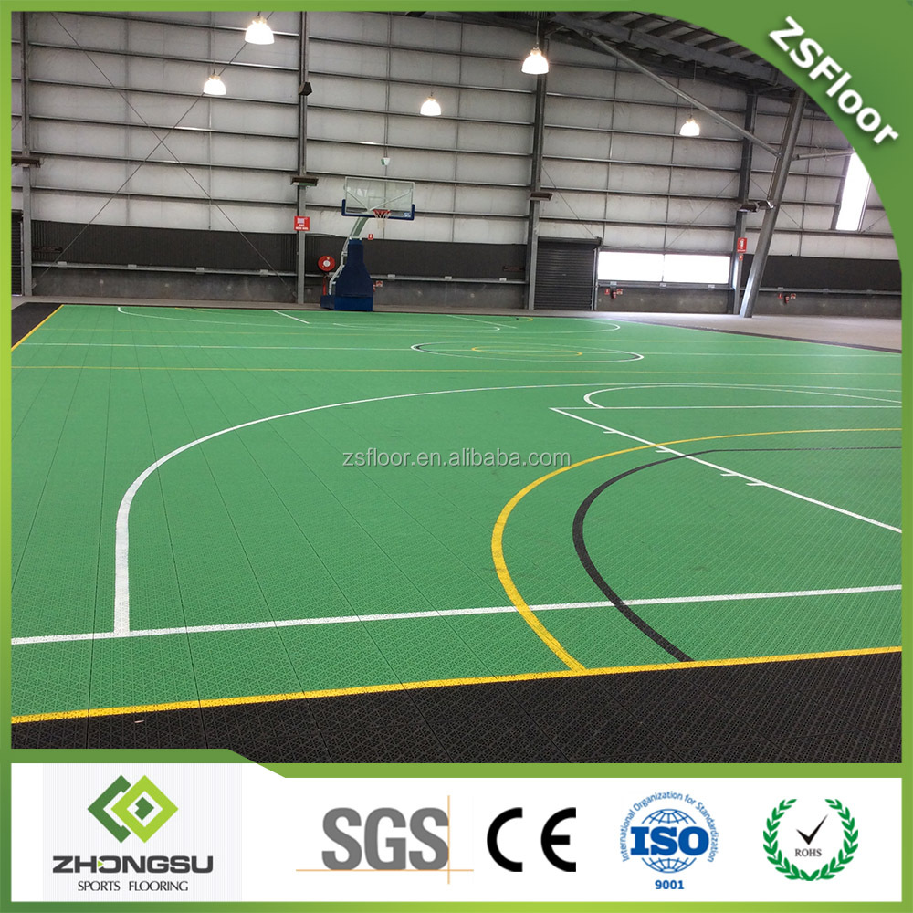 Zsfloor 3d Flooring Interlock Sports Court Tiles Buy