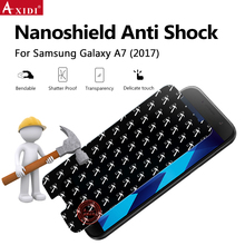 Amazon Gold Supplier Crystal Clear Nano Shield Screen Protector Anti Shock Film For Samsung Galaxy A7 2017
