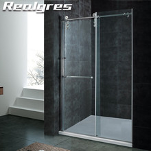 FA136 Bathroom Cheap Semi Frameless Shower Screens