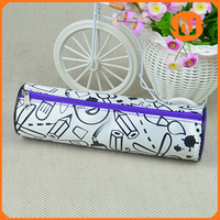 Satin graffiti nylon pen children's cartoon pencil case graffiti bag