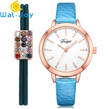 WJ-7438 Good Quality Luxury Charming Leather Watch Simple Famous Quartz Wristwatch Classic Casual Lighter Watch For Women