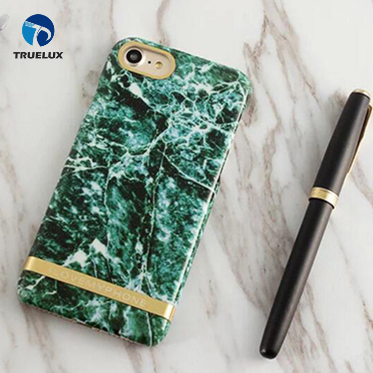 For iPhone 8 Marble Phone Case Customized Design Clear Bumper TPU Soft Rubber Silicone Cover Phone Case